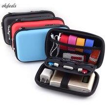 Digital PU Storage Bag Travel Gadgets Organizer Case For Hard Disk USB Data Cable Camera Bags
