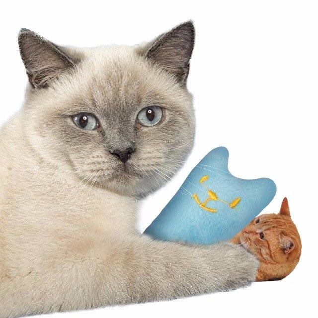 CARRYWON Gatto Giocattolo Divertente Interactive Peluche Cuscino Creativo Popolare di Alta Quanlity Erba Gatta Giocattolo Digrignare i denti Cute Cat Scratcher Giocattoli