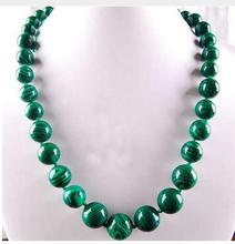 Women Gift jewelry choker anime gem chocker maxi overwatch natural 6-14mm Gorgouese Malachite Necklace