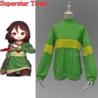 Cosplay Undertale Frisk Chara Coat Hoodies Kid kiddo Costumes Sweatshirts Flowey Asriel Asgore Clothes