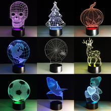 home ambient lighting.  lighting led 3d night lights creative ambient light desk lamp home lighting bulbing  color change luminaria kids gifts christams on