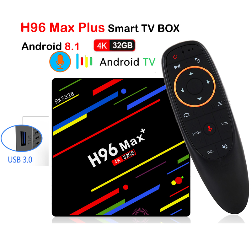 2018 H96 Max Android 8.1 TV Box RK3328 4 gb 32 gb 1080 p H.265 4 k 3D Google Lecteur magasin Youtube WiFi HDR10 Intelligent Android TV BOX