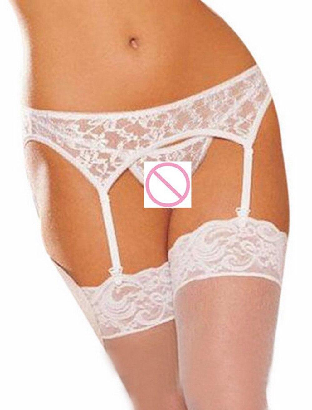 db2508183 Moda das Mulheres Sexy Conjunto de Lingerie Branca Liga belt G corda Meias  transparentes para as mulheres nightwear   yl em Conjuntos de Lingerie de  ...