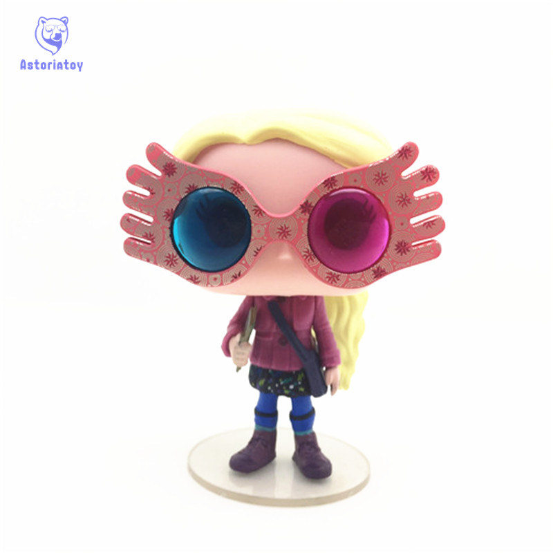 NEW 10cm Harry Potter Luna with glasses action figure big Bobble Head Q Edition no box for Car Decoration