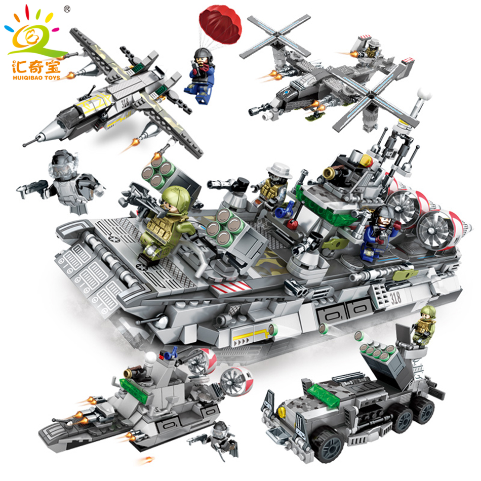 701PCS Military Building Blocks Set Toys For Children Gifts Cars Planes Helicopter Compatible Legoed ww2 Army Soldiers Weapons military city police swat team army soldiers with weapons ww2 building blocks toys for children gift