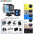 Original soocoo c30r 4 k wifi impermeable 30 m acción deporte cámara de vídeo de control remoto + batería extra + 32g tarjeta + muchos + accesorios bolsa