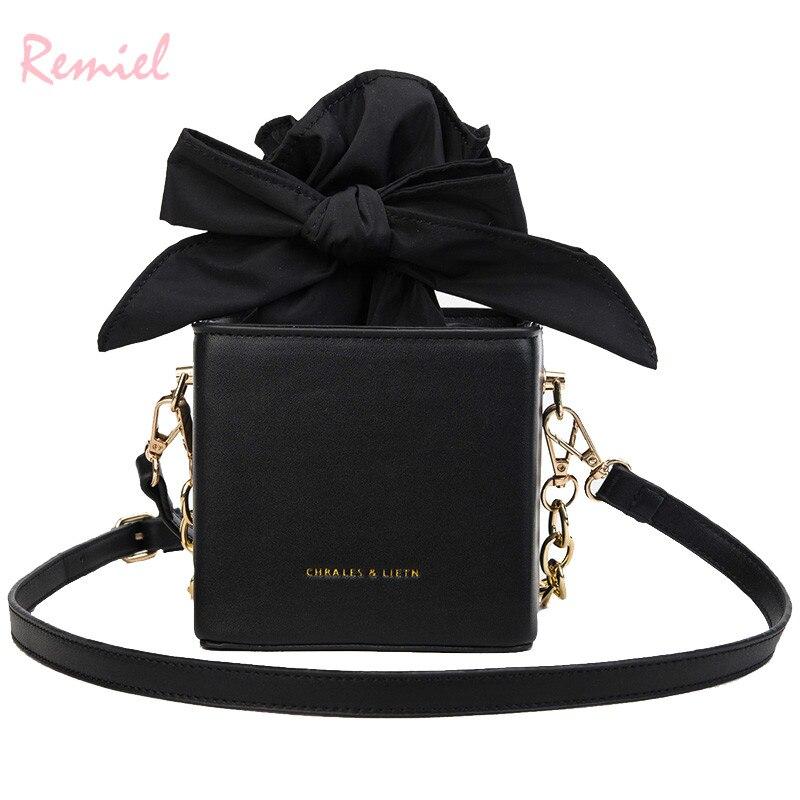 Designer Handbag Box-Bags Messenger-Bag Bow-Chain Shoulder Mini Fashion High-Quality