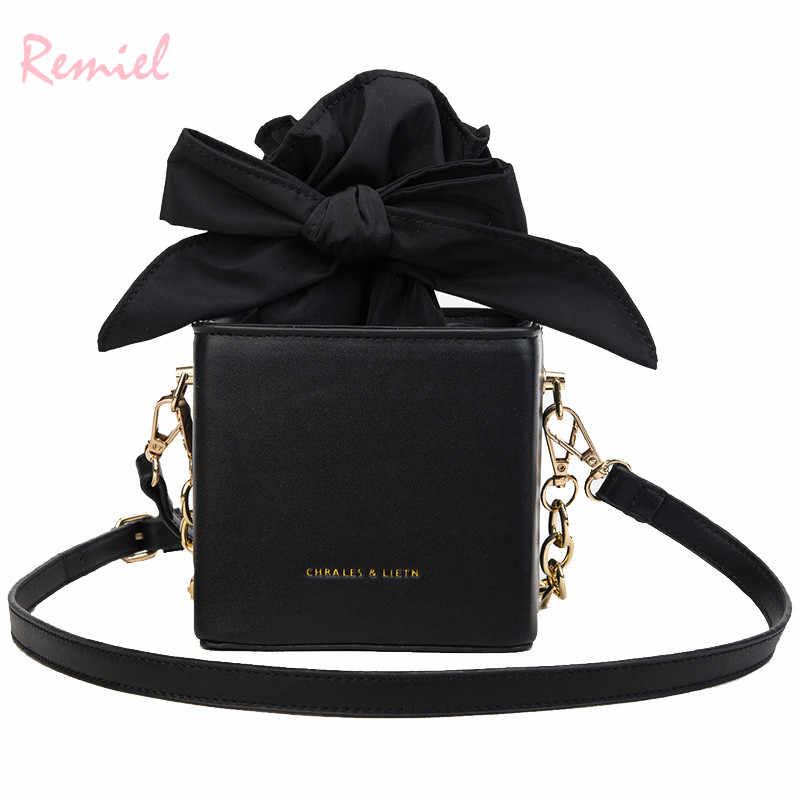 Women s Designer Handbag 2018 Fashion New High quality PU Leather Women  Tote bag Bow Chain Shoulder 8175ba03afa31