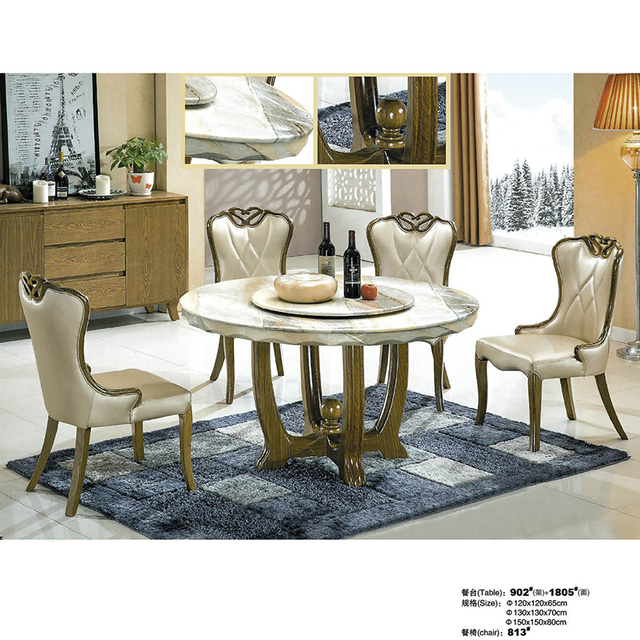 Excellent Us 802 0 Made In China Hot Selling Round Marble Dining Table With 4 Chairs And Lazy Susan In Bedroom Sets From Furniture On Aliexpress Com Download Free Architecture Designs Rallybritishbridgeorg
