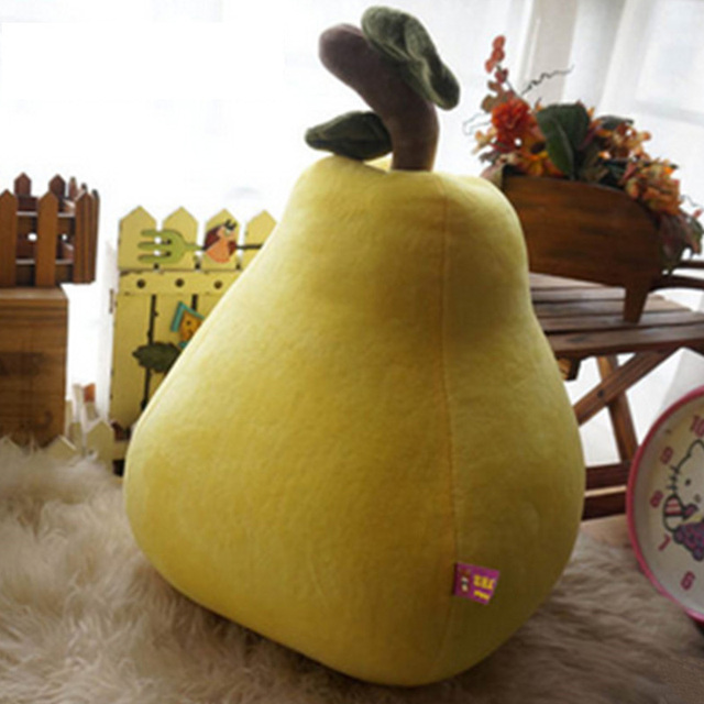 Fancytrader Giant Plush Apple Pear Banana Pillow Doll Large Soft Stuffed Simulated Fruits Toys for Children 60cm 24inch