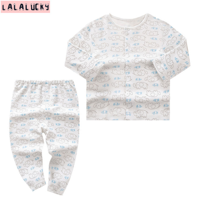 LALALUCKY clothes for newborn baby boy clothing set  baby's underwear set clothes for gril Long-sleeved underwears children wear