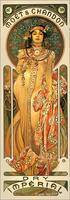Декор картины Moet chandon сухой императорской Альфонс Муха Art ручной работы высокого качества