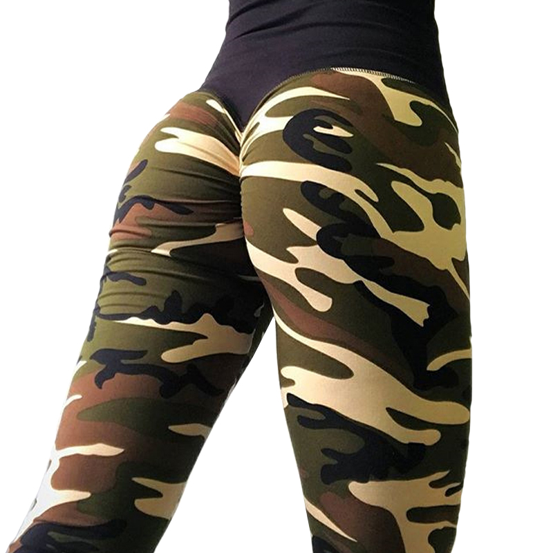 FNMM 2019 Green Camo Sport Pants Fitness Seamless Workout Women Yoga Leggings 3D Print Sexy Hip Push Up Pants Tights Gym Jegging Лосины