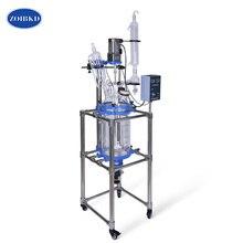 цены Laboratory Equipment  10L University Chemical Double-layer Jacket Glass Reactor Vacuum Glass Reactor Vessel