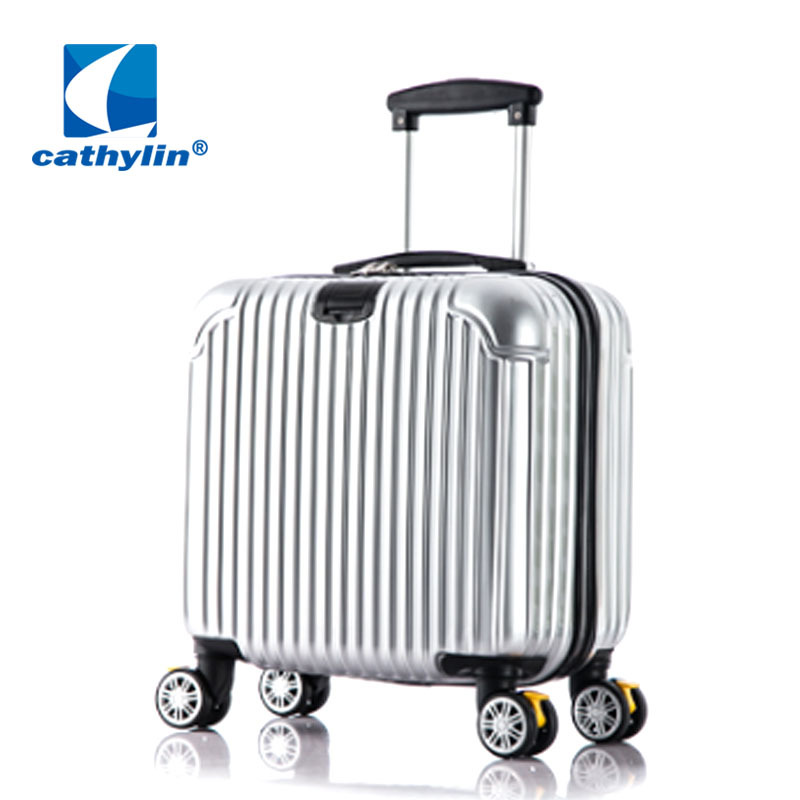 New 18-inch business luggage rod PC board box aviation aluminum frame universal wheel abs password luggage spot new design professional universal wheel rod makeup box men and women pull rod