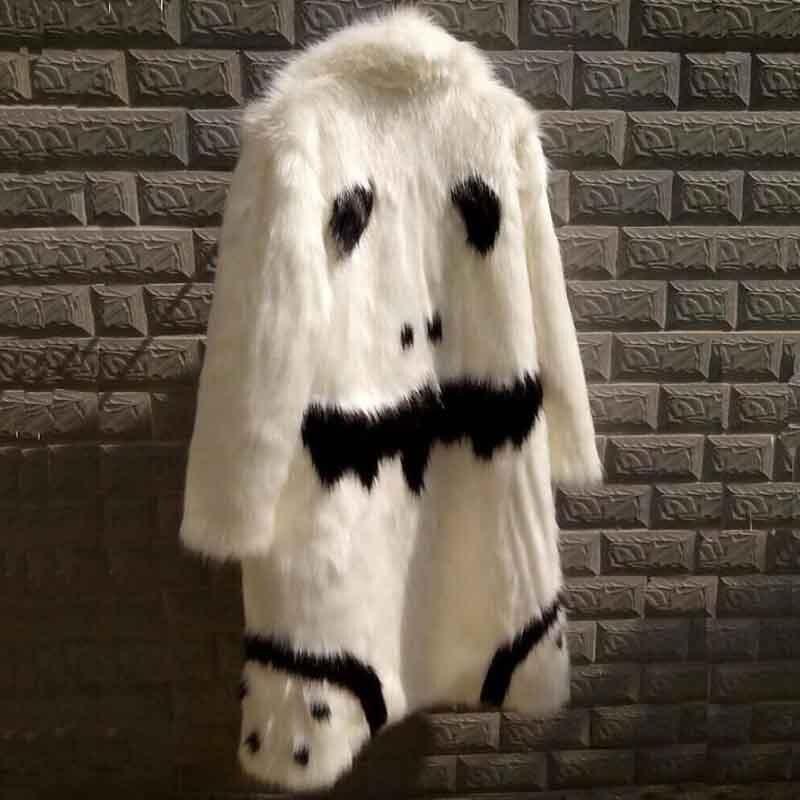 Мужская куртка с натуральным мехом, зимняя верхняя одежда из искусственного меха, ветровка с обеих сторон, мужская куртка-парка в стиле панк...