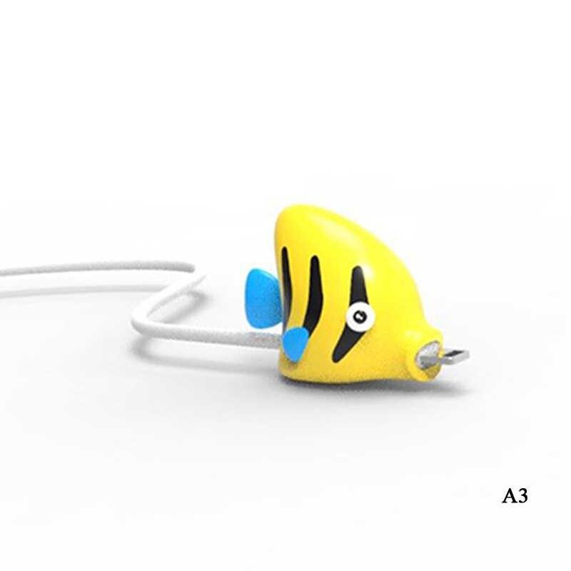1 pièces mignon Animal câble protecteur cordon fil bande dessinée Protection Mini Silicone couverture câble de charge enrouleur pour Iphone chargeur câble