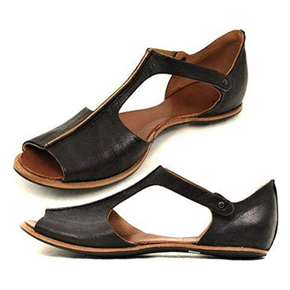Oeak Torridity Women  Leather Shoes   Flats Sole Ladies Casual Soft Slides  Women Sandals zapatos de mujer Dropshipping