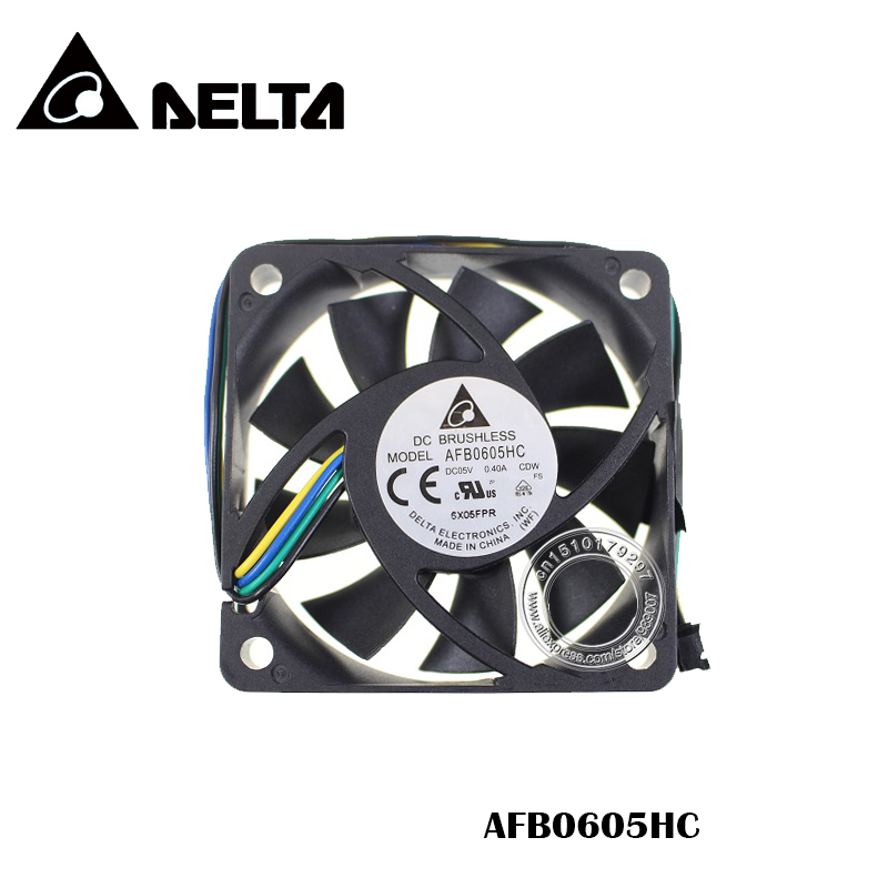 6CM <font><b>60mm</b></font> <font><b>fan</b></font> 60x60x15mm AFB0605HC <font><b>5V</b></font> 0.40A Double ball bearing large air volume cooling <font><b>fan</b></font> image