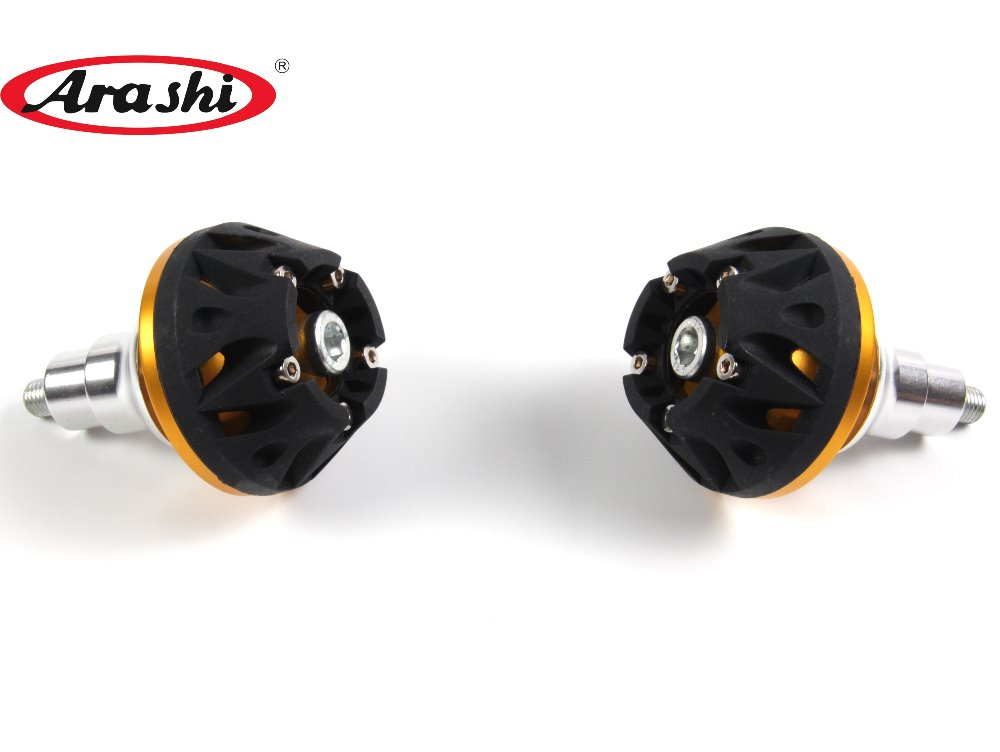 Arashi 1 Pair CNC Engine Slider Protector For YAMAHA FZ6 2004 2005 2006 2007 2008 2009 Falling Protect Engine Cover Anti Crash aftermarket free shipping motorcycle parts eliminator tidy tail for 2006 2007 2008 fz6 fazer 2007 2008b lack