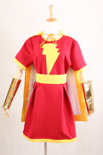 New Arrival Captain Marvel Costume Mary Marvel Heroine Cosplay Party Shawl Dress Halloween