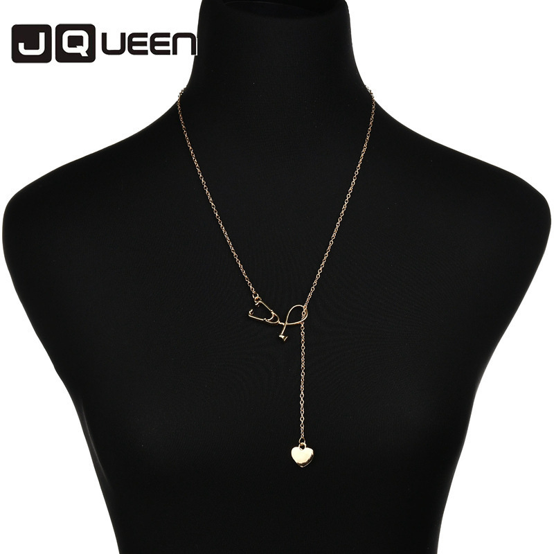 Newest Hot Sale Gold Silver Color Stainless Steel Heart Pendant Necklaces Jewelry Engagement Heart Creative Necklace For Women