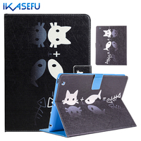 IKASEFU Painting Stand Cover Case For Apple IPad 2 3 4 9 7 Inch Coque Fundas