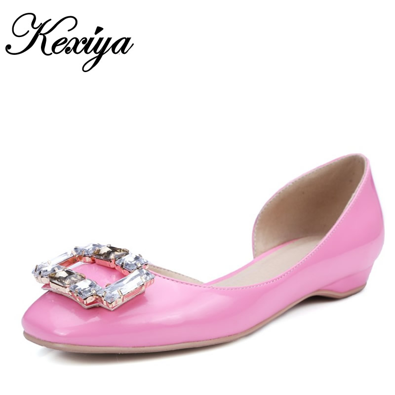 2016 Spring/Autumn Women loafers Plus Size 32-48 solid PU Beading decoration flats fashion Slip-On flat shoes zapatos mujer beyarne rivets decoration brand shoes flats women spring autumn fashion womens flats boat shoes sexy ladies plus size 11