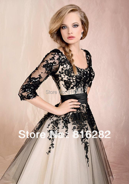 Fashion Design A Line Half Sleeves Ankle Length Bridal Gown Capped Appliques Elegant Organza Weddign Dresses