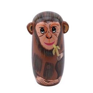 5 шт./компл. деревянная матрешка куклы Обезьяна матрешка куклы милые животные подарок традиционные унисекс