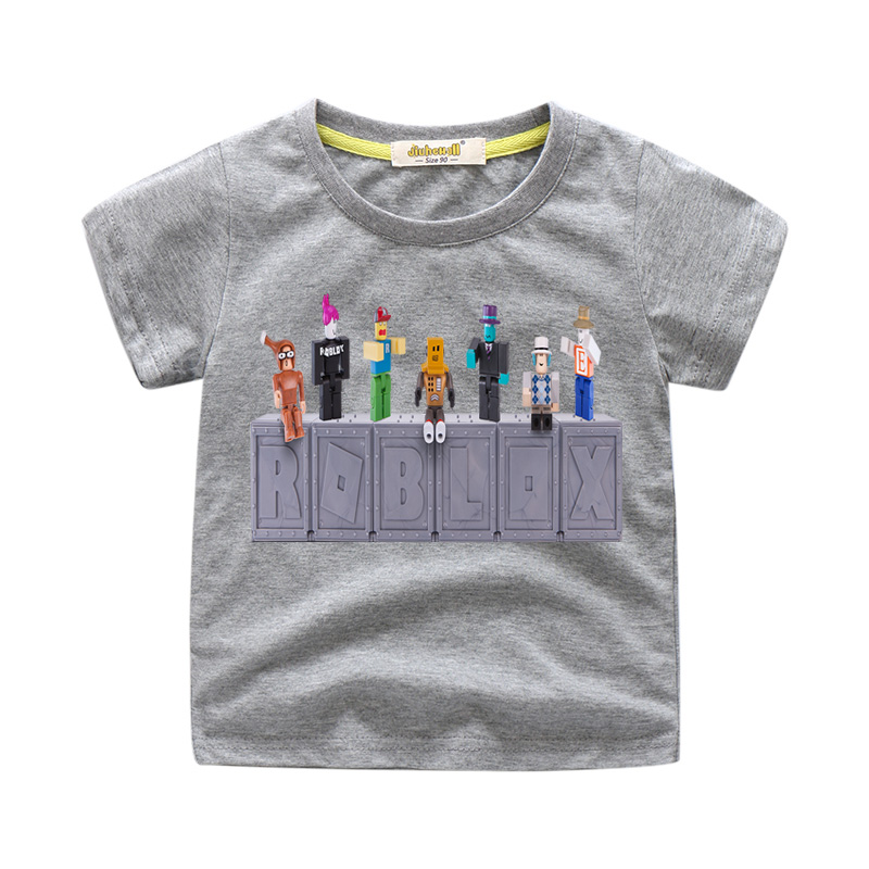 8176533f 2018 Baby Summer New Roblox Game Design Tee Tops Costume For Children Short  T Shirts Boy