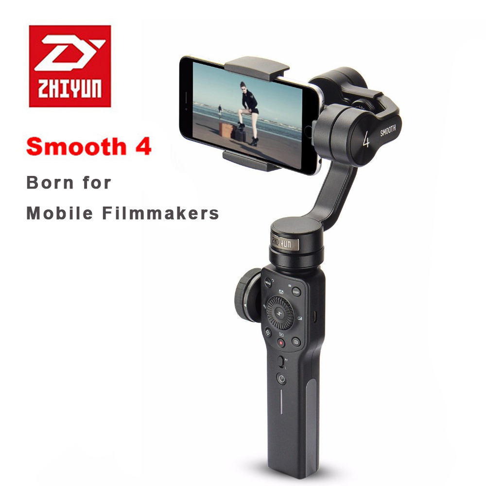 Zhiyun Smooth 4 3-Axis Handheld Smartphone Gimbal Stabilizer for iPhone X 8 7P Samsung S9 S9+ S8 PK Smooth Q DJI Osmo 2 zhiyun smooth 4 3 axis handheld smartphone gimbal stabilizer vs zhiyun smooth q model for iphone x 8plus 8 7 6s samsung s9 s8 s7
