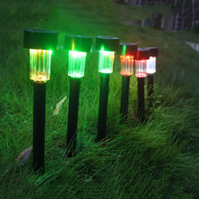 10PCS/Lot Solar Garden Light Outdoor Lawn Pillar Lamp Spike LED Lights Spot Light Landscape Yard Path Lawn Solar Lamp 7 Colors #
