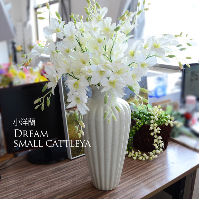 New 10pcs/lot Artificial Single Branch Small Foreign Orchids Living Room Bedroom  Flower Arrangement Wedding