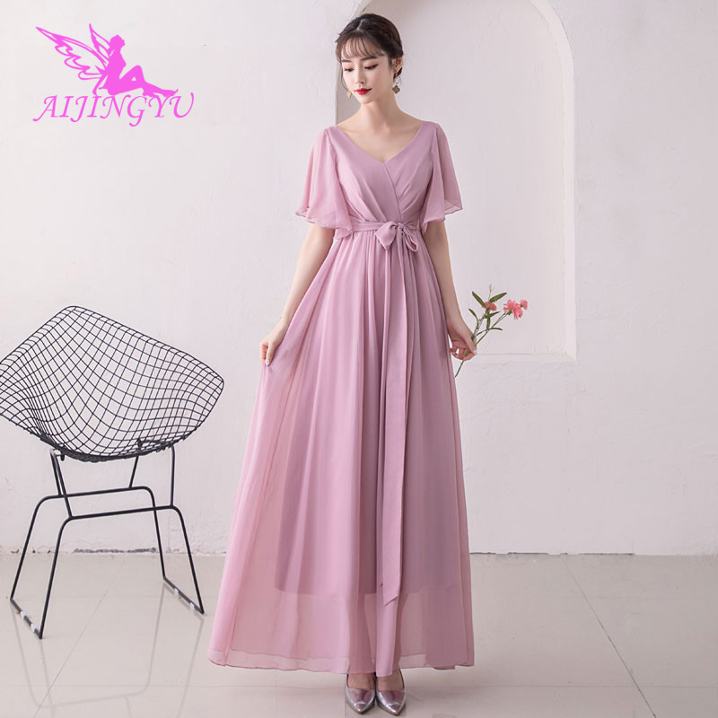 AIJINGYU 2018 Girl Sexy Elegant Dress Women For Wedding Party Bridesmaid Dresses BN500