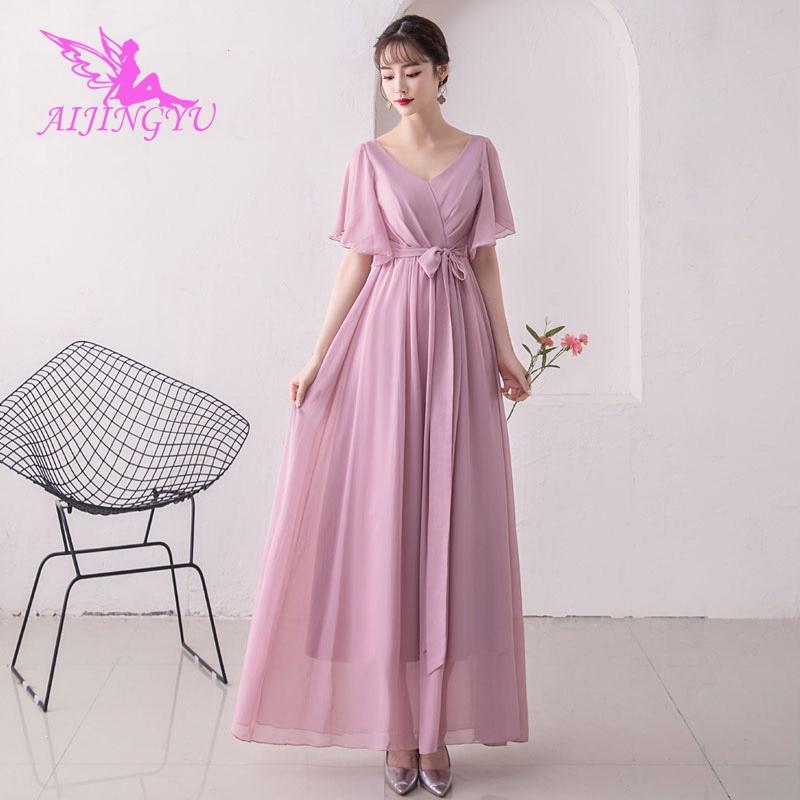 AIJINGYU 2018 girl sexy elegant dress women for wedding party bridesmaid dresses BN500