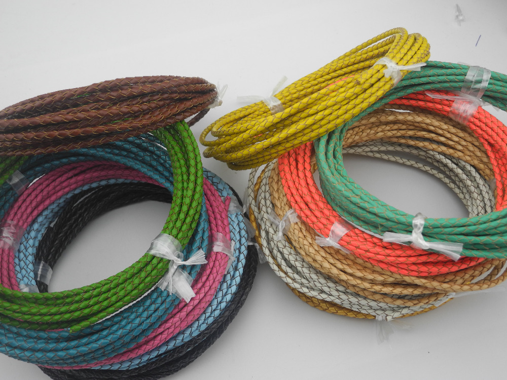 CRAFTS 5 YARDS 2 mm ROUND REAL LEATHER CORD FOR HATS BEADING