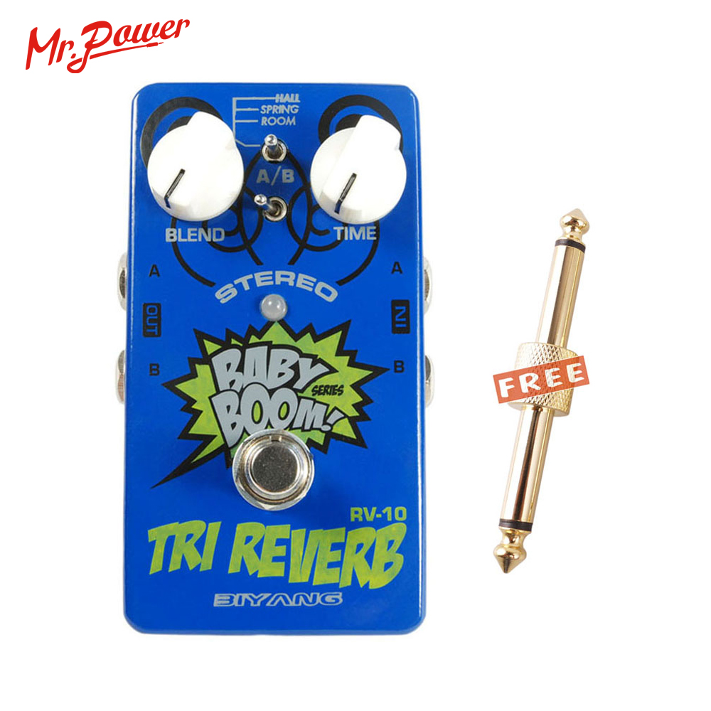 Baby Boom Effects Biyang RV-10 3 Mode Tri Reverb Reverb Stereo True Bypass Electric Guitar Pedal Musical Instrument 350 BBaby Boom Effects Biyang RV-10 3 Mode Tri Reverb Reverb Stereo True Bypass Electric Guitar Pedal Musical Instrument 350 B