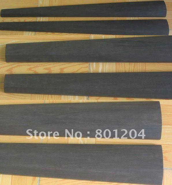 1 pc of pure black ebony double bass fingerboard 3/4