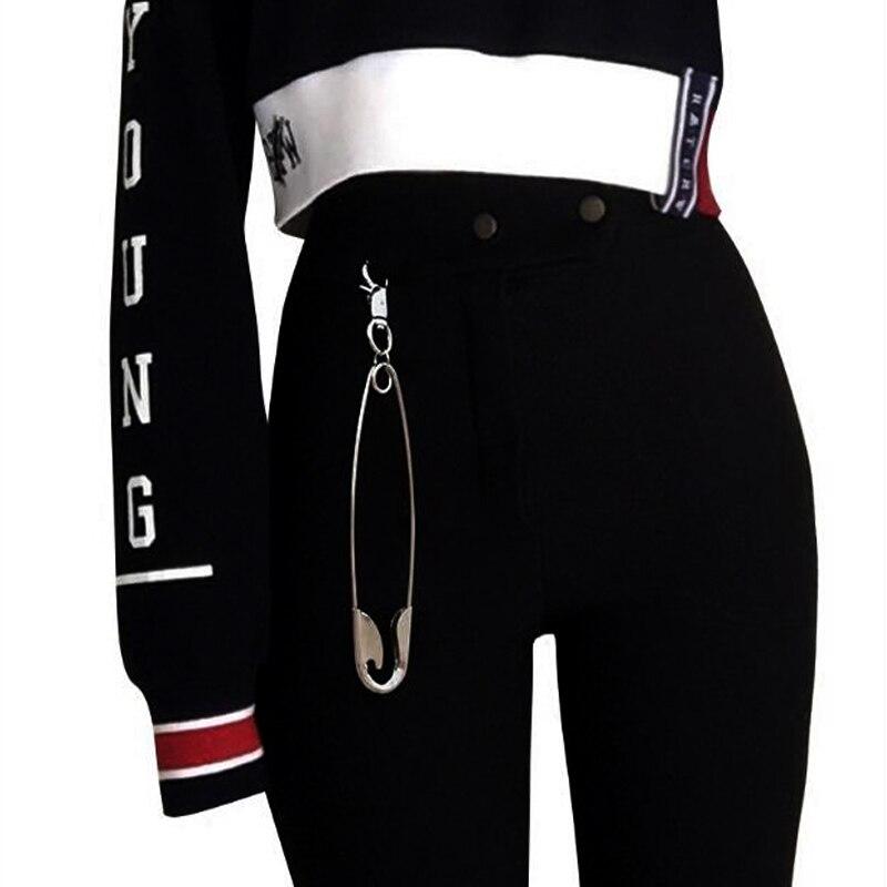 2018 new brand design Big metal pins Key Chain Jeans   belts   Accessories Charm Men punk style Keychains