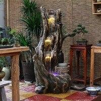 Большой корень резьба Европейский фонтан воды напольные украшения балкон сад водопад пень вид декоративные рыбы аквариум