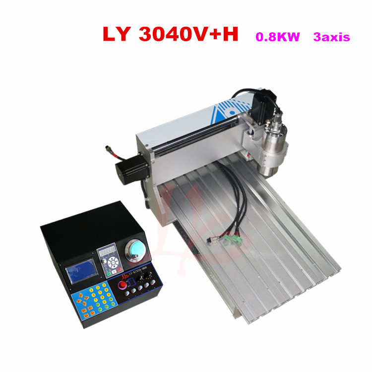 New arrival mini cnc machine 3040V+H 0.8KW 3 axis  with water cooling spindle,Free tax to Russia russia tax fre cnc mill usb port 4 axis rotary aixs 3040 mini cnc milling machine 1500w spindle with water tank spray