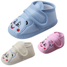 Hot Baby Shoes 2018 New Autumn/Spring Newborn Boys Girls Toddler Shoes Leather Anti-slip Shoes Toddler Shoes Casual Sneakers(China)