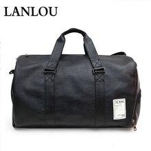 New Unisex handbag Large capacity Leather Travel Bags Sports gym shoulder