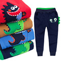 Retail new 2017 spring kids clothing Baby boys girls Sport Pants cotton dinosaur trousers Casual Trousers Comfortable pants