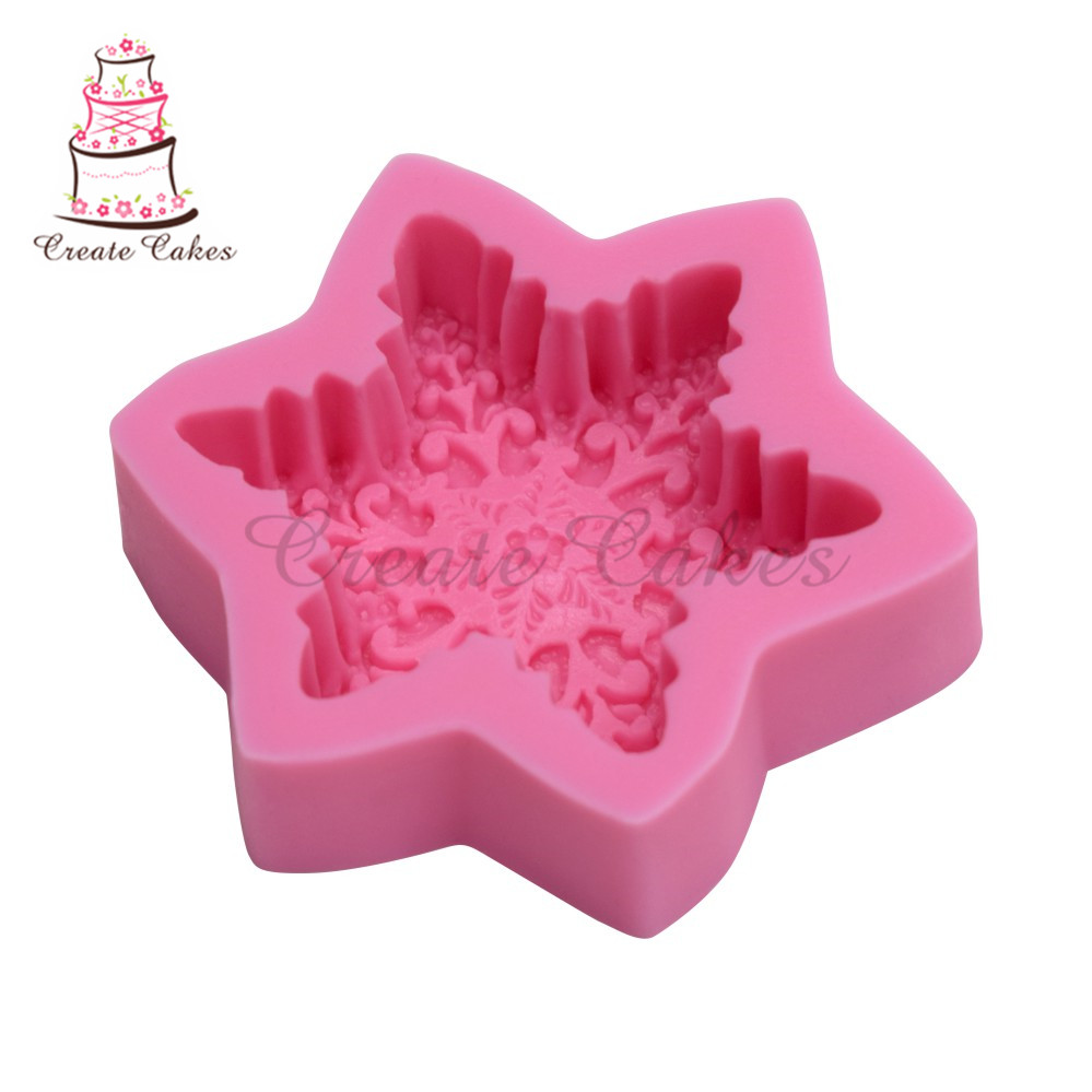 3D Silicone Large Snowflake Soap Mold Cake Fondant Cake Pastry Mould Tool
