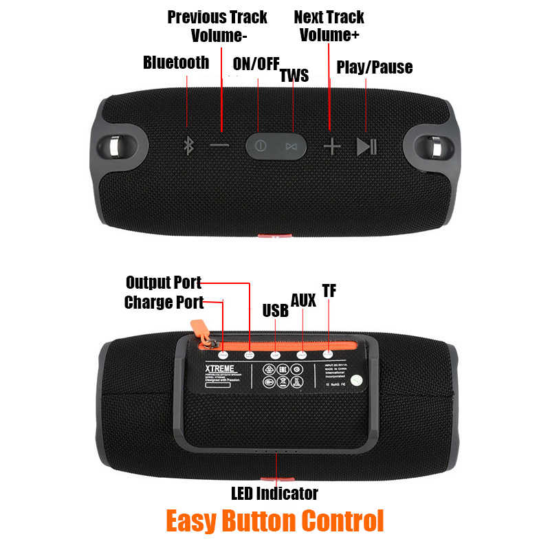 Mini Speaker Portabel Bluetooth Nirkabel Stereo Speakerphone Musik Radio Subwoofer Speaker untuk Komputer dengan TF FM