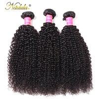 Nadula Hair Kinky Curly Bundles 100% Human Hair Bundles 8 26inch Remy Hair Extensions 1/3/4 Bundles Hair Weaves Natural Color