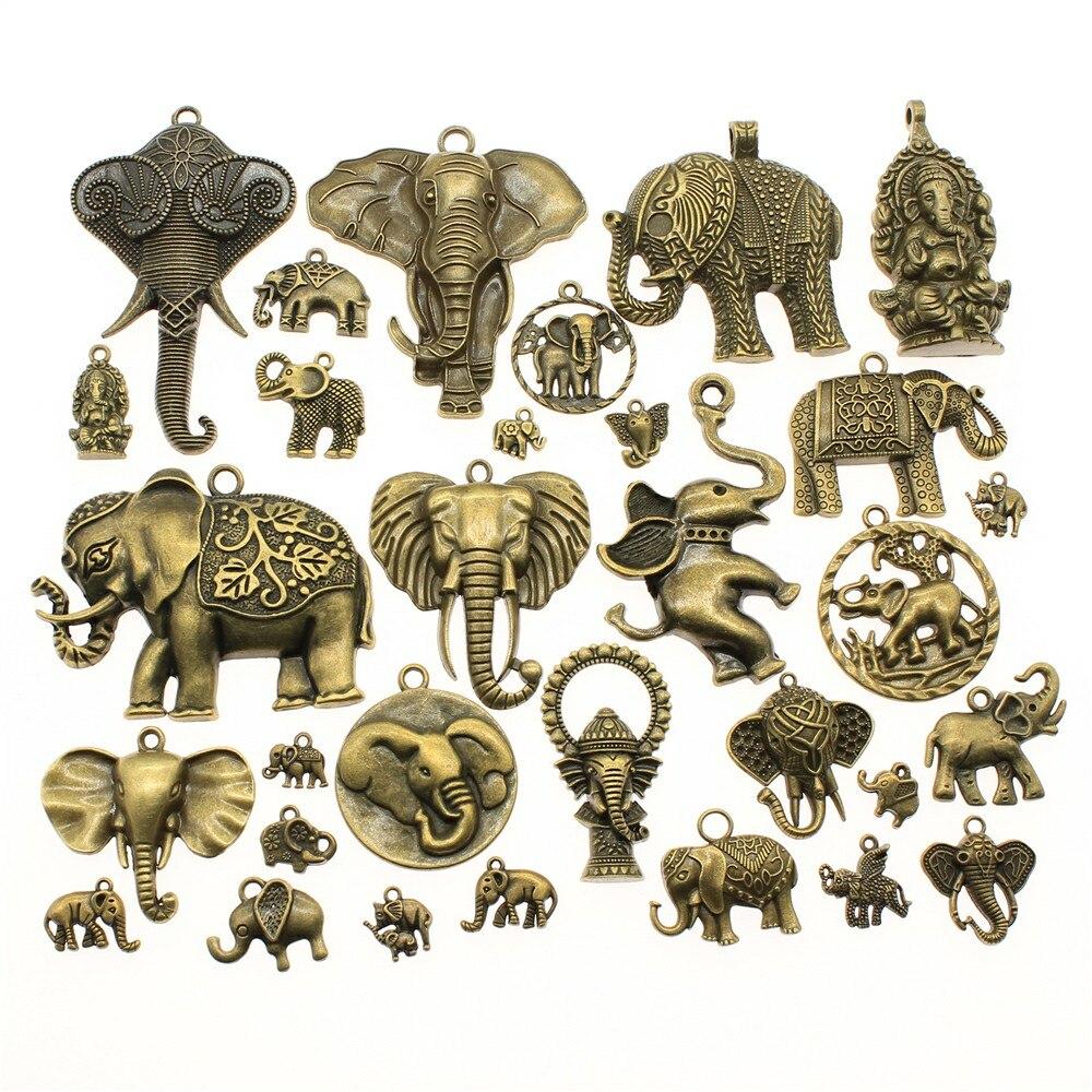 WYSIWYG 40 г, античная бронза, сплав цинка, случайные смешанные стили, подвеска в виде слона, шармы, «сделай сам», аксессуары для изготовления юве...