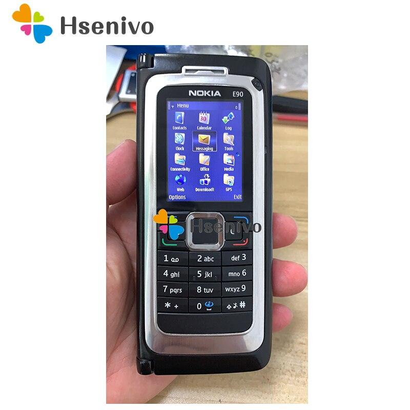 E90 100% Original NOKIA E90 Mobile Cell Phone 3G GPS Wifi 3.2MP Bluetooth Smartphone Red & Gift Refurbished